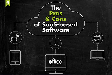 Pros & Cons of SaaS based FM software infographic image