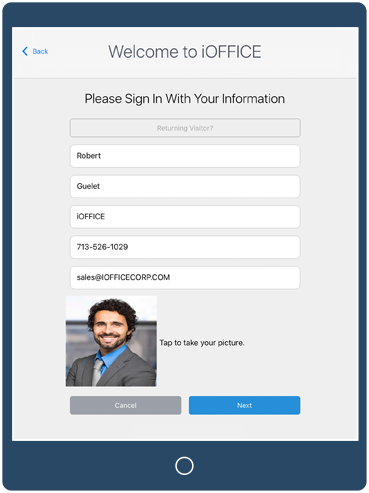 iOffice Visitor Tracking Software