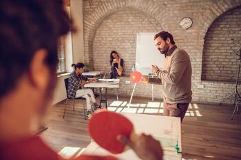 "Provide a ""playroom"" for employees to step away and unwind"