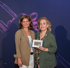 Barbara Notarile from Ford Foundation winning the Evangelist Award